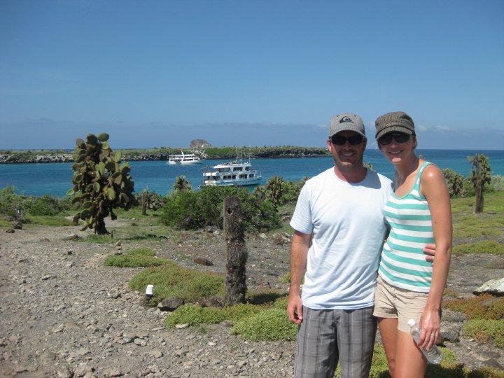hiking at South Plaza Island, Galapagos